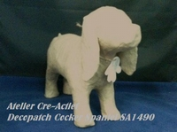 Decopatch papier-mache SA149 hond Cocker Spaniel