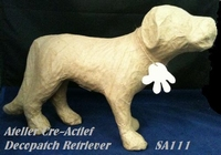 Decopatch papier-mache SA111 hond Retriever ca.28cm