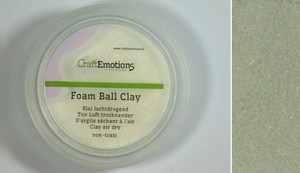 Foam Ball Clay 610110_0201 Wit  15gram