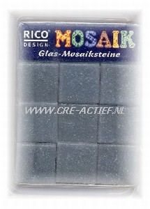Glasmozaiek Grijs 20x20 mm Rico Design art. 7051-210