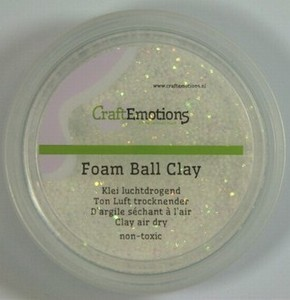 Foam Ball Clay 610110_1301 Wit glitter