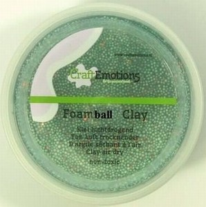 Foam Ball Clay 610110_1355 Groen glitter