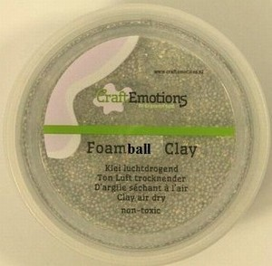 Foam Ball Clay Craftemotions 501 Zilver glitter NIEUW