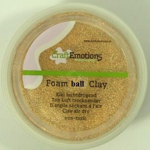 Foam Ball Clay Craftemotions 502 Goud glitter NIEUW