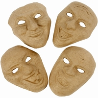 Papier mache maskers set van 4 Theater maskers art.CCH592580