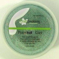 Foam Ball Clay 610110_1355 Groen glitter 30gram